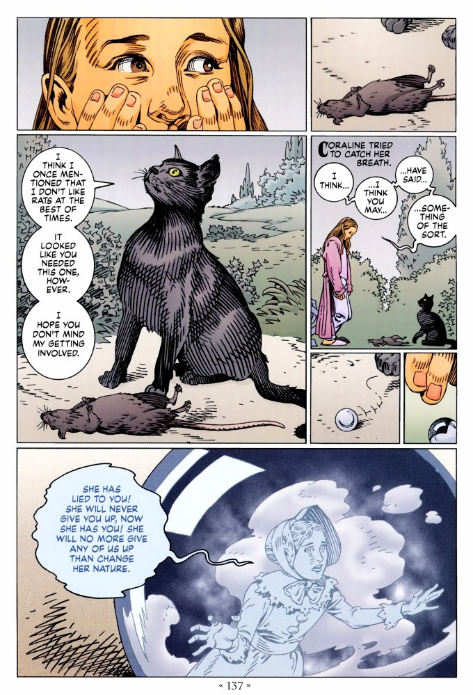 Read page 137, from Nail Gaiman and P. Craig Russell's Coraline graphic novel