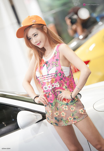 4 Kim Ha Yul - Seoul Auto Salon 2016 - very cute asian girl-girlcute4u.blogspot.com