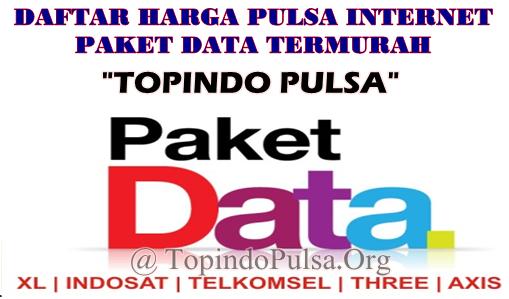 Update Daftar Harga Pulsa Internet Paket Data Server Topindo Pulsa Termurah Saat Ini