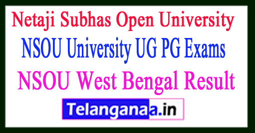 NSOU West Bengal Result 2017 NSOU University UG PG Exams