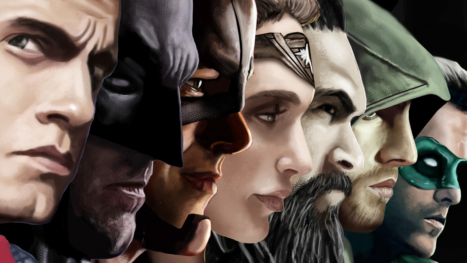 Justice League Painting,Justice League Full HD Wallpapers