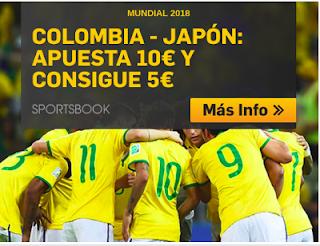 betfair promocion Colombia vs Japon apuesta 10€ y Consigue 5€ 19 junio
