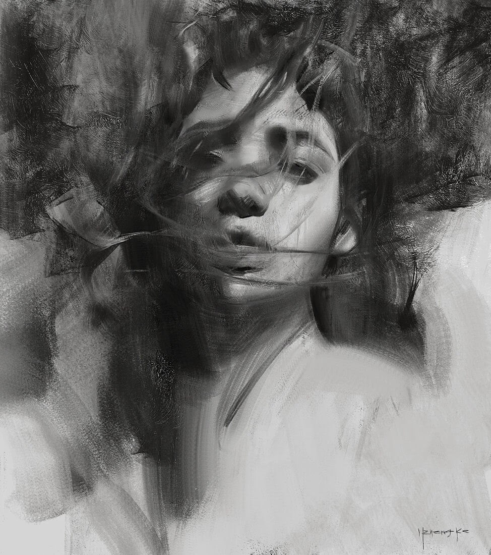 11-Yizheng-Ke-Charcoal-Portrait-Drawing-in-Different-Poses-www-designstack-co