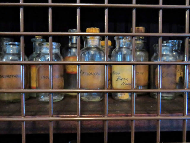 Reagents in the Edison Lab at the Edison and Ford Winter Estates in Ft. Myers, Florida