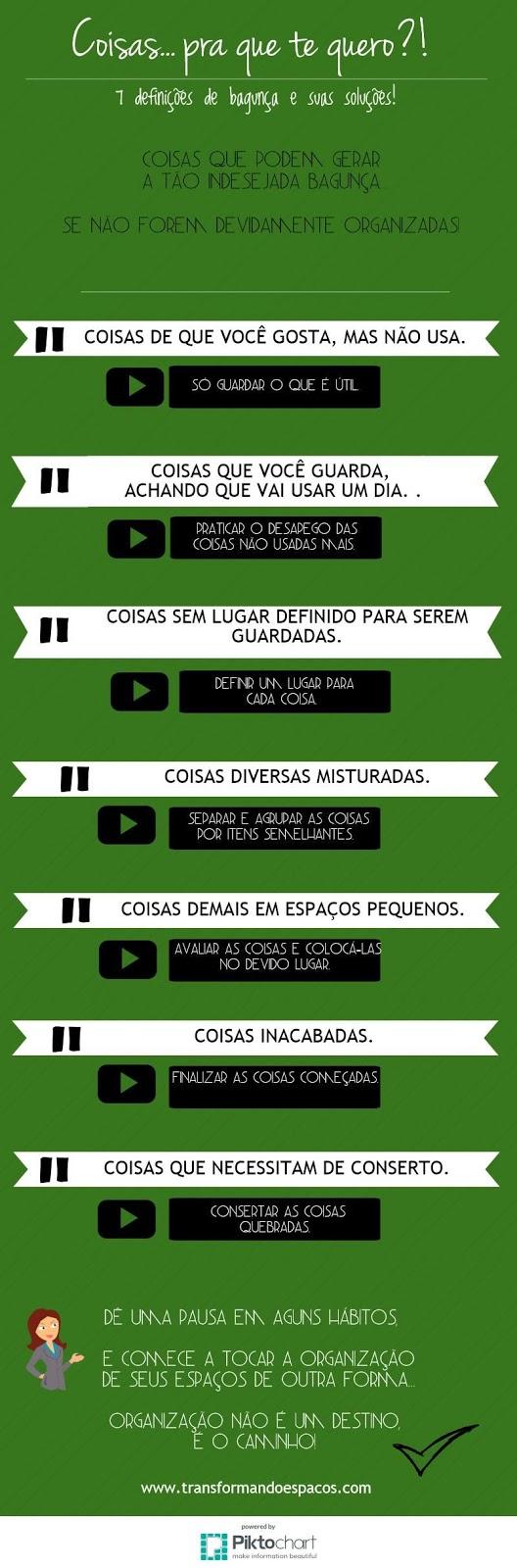 Infográfico: Coisas... pra que te quero?! 7 definições de bagunça e suas soluções