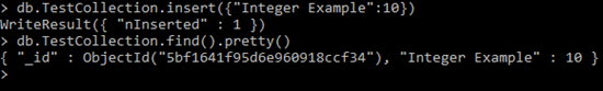 Integer in MongoDB