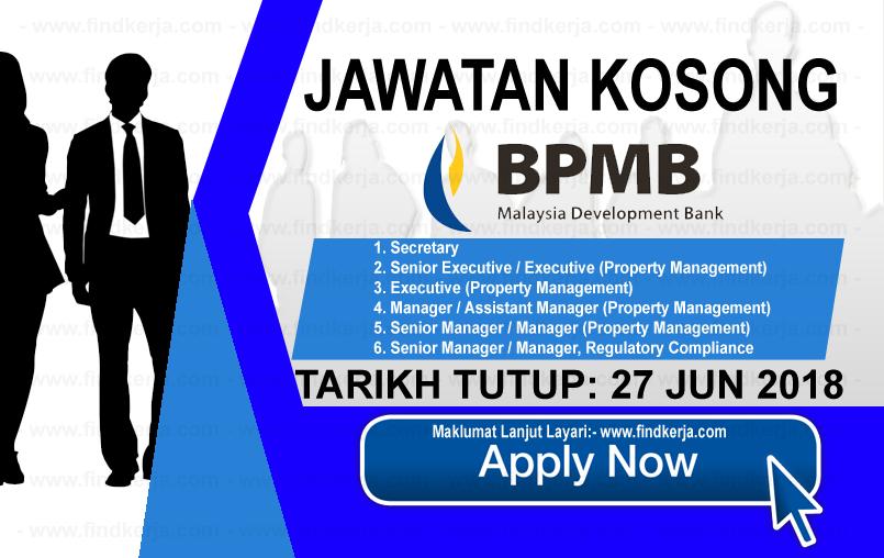 Jawatan Kerja Kosong Bank Pembangunan Malaysia Berhad logo www.findkerja.com www.ohjob.info jun 2018