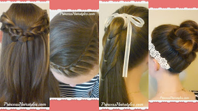 4 back to school hairstyles, video tutorials.