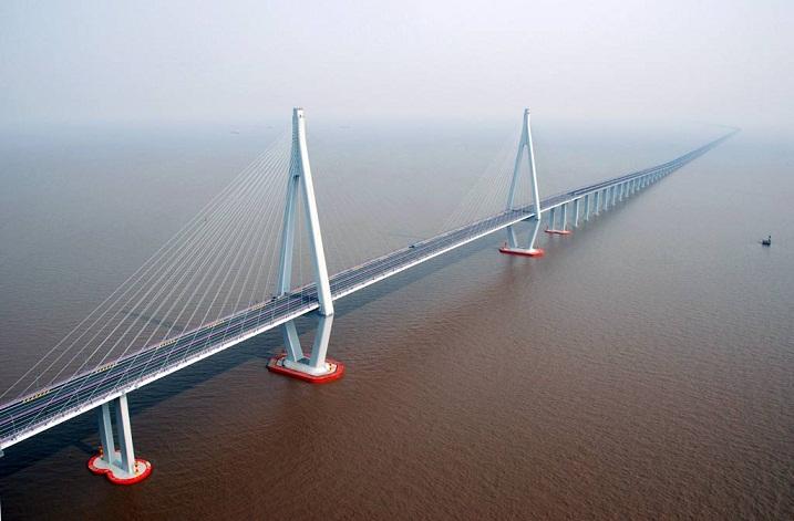 Hangzhou Bay Bridge, Jembatan di Atas Lautan