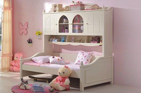 Bộ sưu tập mẫu giường ngủ công chúa đáng yêu cho bé gái