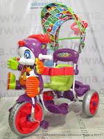 Sepeda Roda Tiga Royal RY9682C Cowboy Ban Jumbo Dobel Musik-Purple