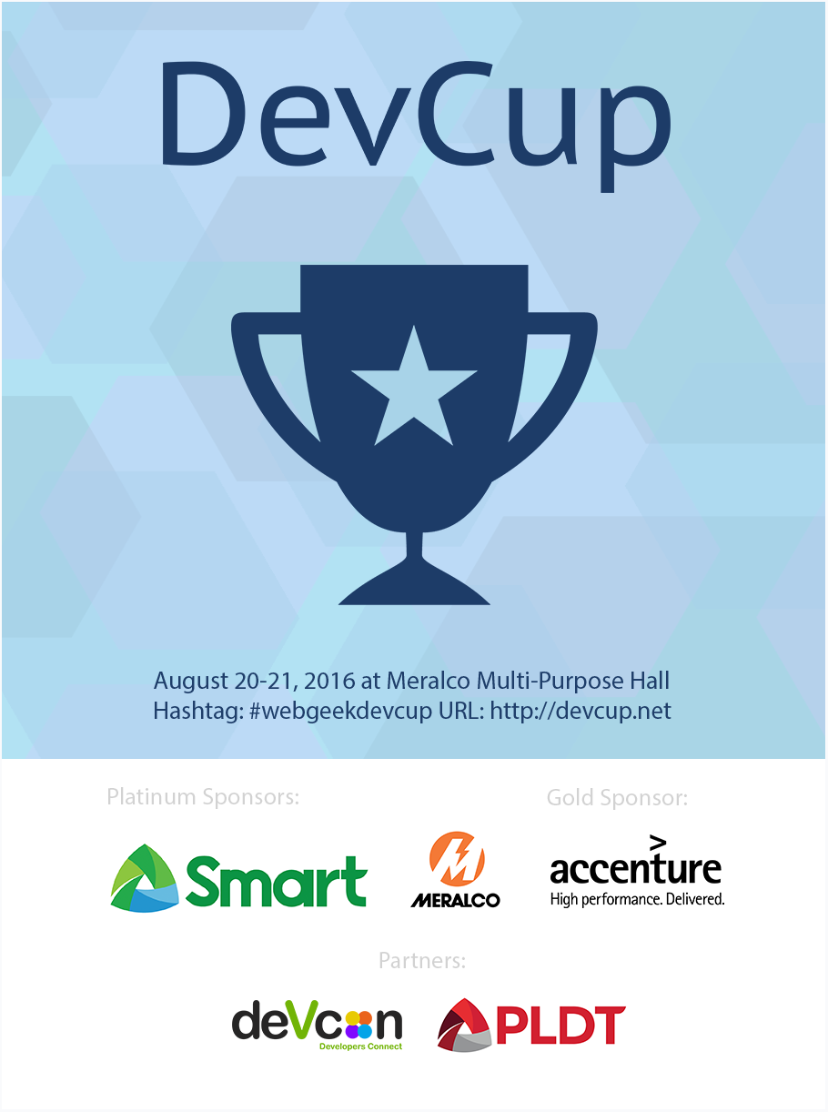 WebGeek DevCup Hackathon 2016
