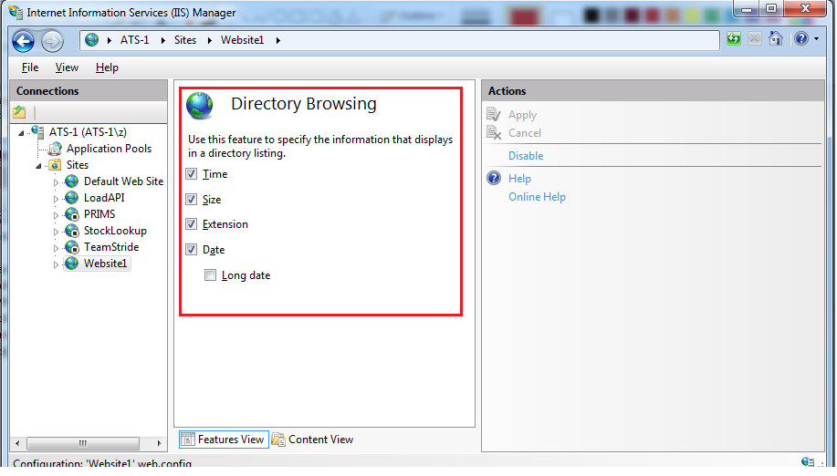 enabled directory browsing