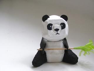 egg carton panda
