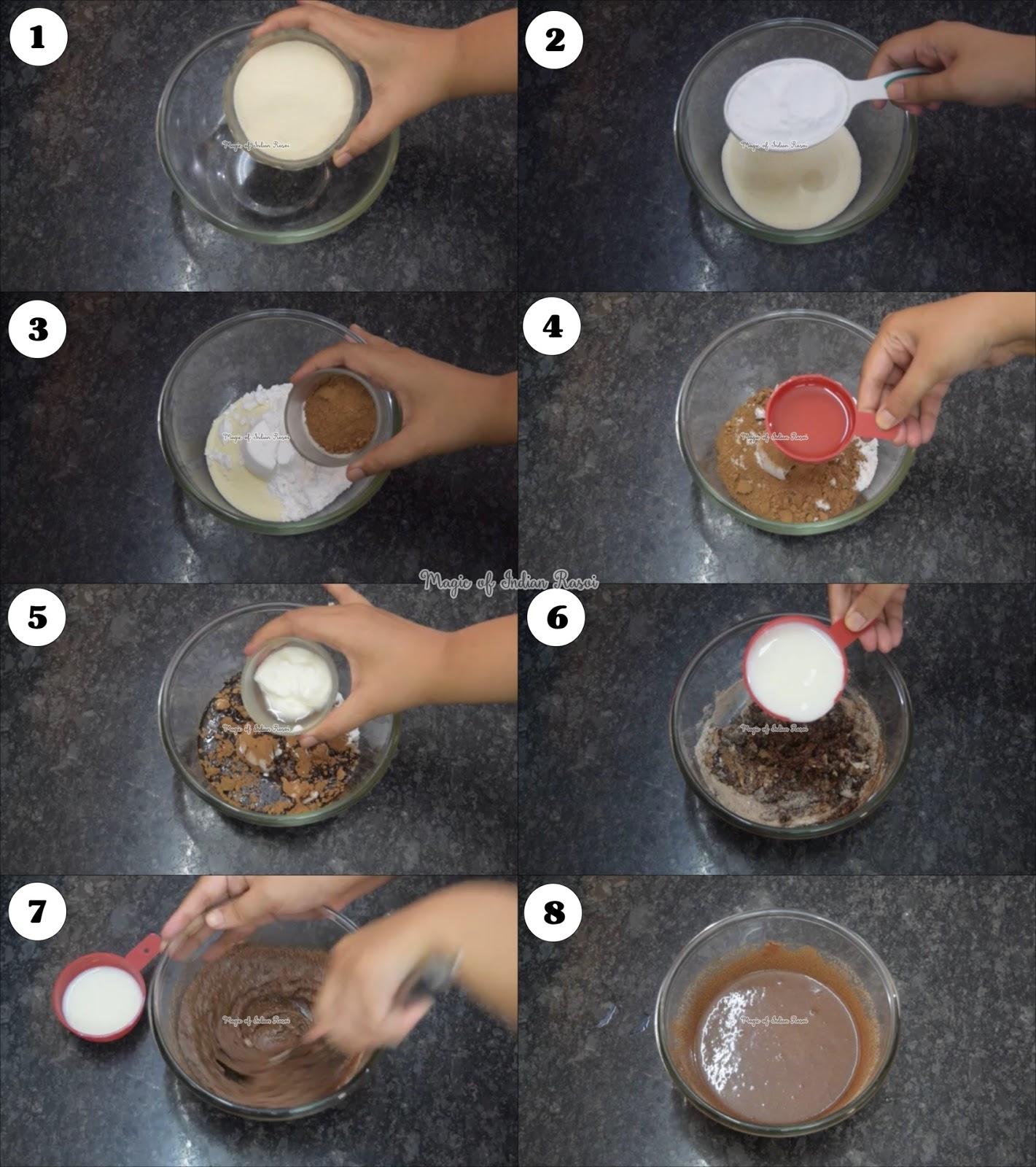Chocolate Rava Cake Recipe (Bakery Style) - चॉकलेट रवा केक रेसिपी - Priya R - Magic of Indian Rasoi