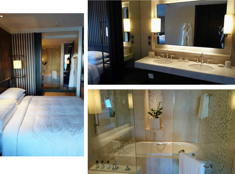 Park Hyatt Sydney bedroom and bathroom, Australia, Euriental