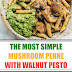 The Most Simple Mushroom Penne with Walnut Pesto