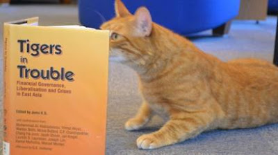 Jasper, a five-year-old ginger tom, belongs to the deputy librarian at the Marshall Library of Economics
