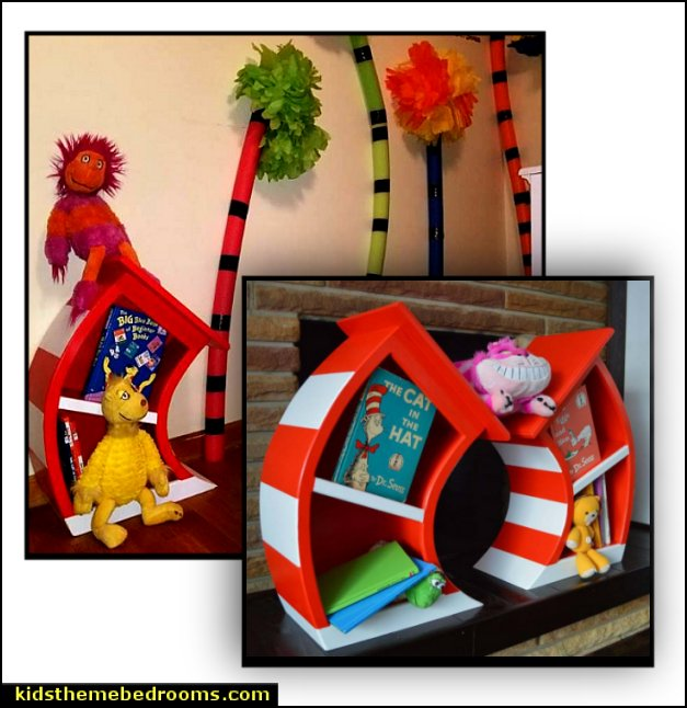 Dr Seuss Room furniture dr seuss bedroom decor  Dr Seuss bedroom ideas - Dr.Suess bedroom decor - Dr Seuss Bedding - dr. seuss nursery  - decorating ideas  cat in the hat theme bedrooms -  Dr Seuss wall decal stickers - DR SEUSS wall mural decal - Dr. Suess playroom ideas - Dr. Seuss Plush Toys