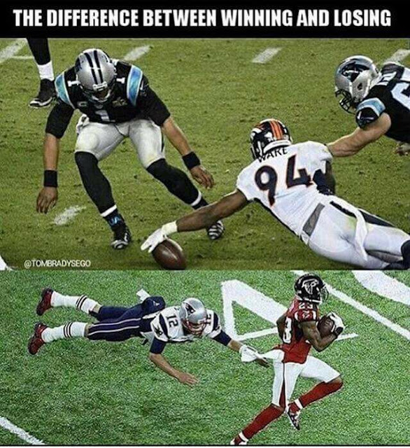 #broncos #patriots - The difference between #winning and #losing