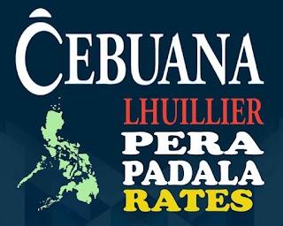 Cebuana Lhuillier Pera Padala Rates and Charges 2019