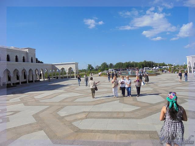 панорама возле белой мечети