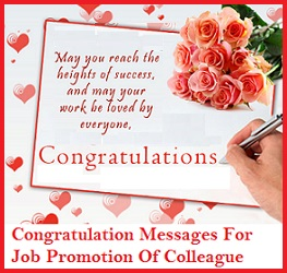 congratulation messages for job promotion of colleaguesample congratulatory wishes for job promotion of colleague what to write in a congratulation card