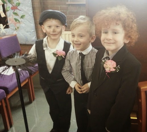 Handsome young men A Wedding chimney sweep