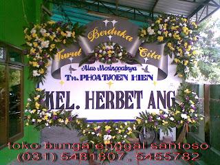 bunga papan duka cita dari herbert ang