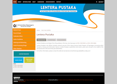 Jurnal Lentera Pustaka