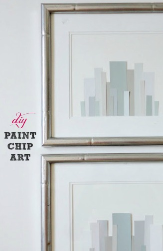... paint chip art · moroccan stencil wall art ... & Diy Paint Chip Wall Art - 4.000 Wall Paint Ideas
