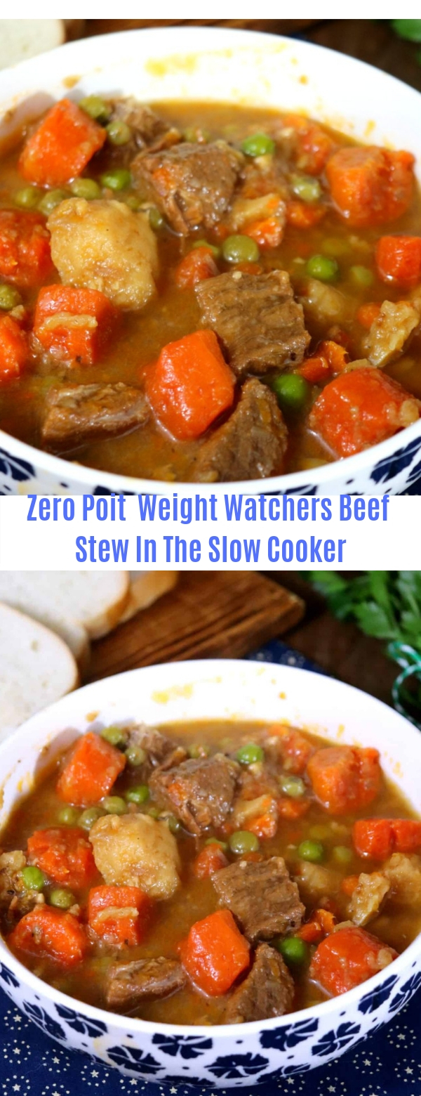 Zero Point Weight Watchers Beef Stew In The Slow Cooker