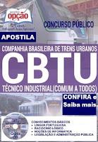 Apostila CBTU BH 2016 para os cargos ao Concurso Trens Urbanos de Belo Horizonte.