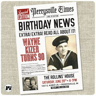 birthday surprise newspaper