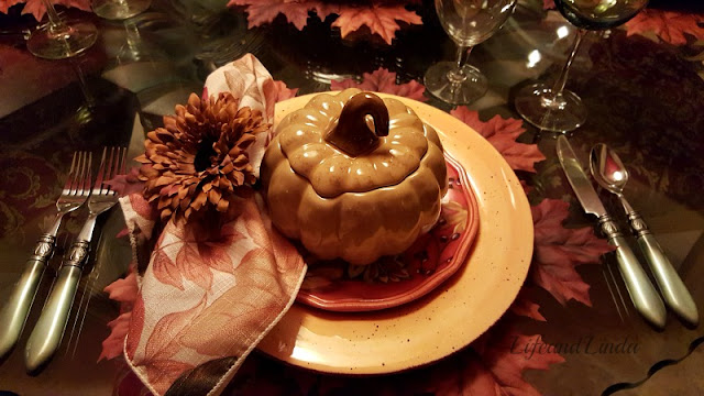 pumpkin soup tureens for a fall tablescape
