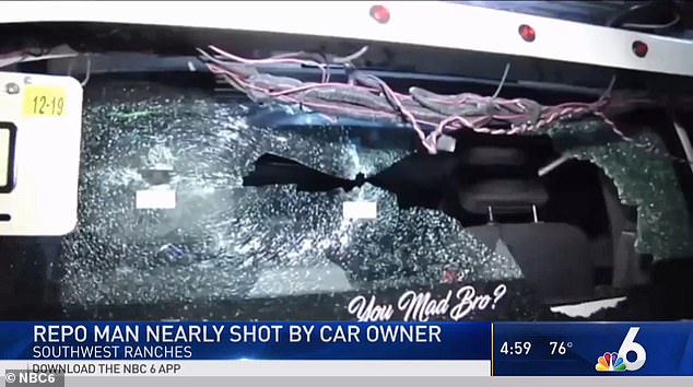 Man charged with attempted felony murder after firing seven shots at repo men taking his car