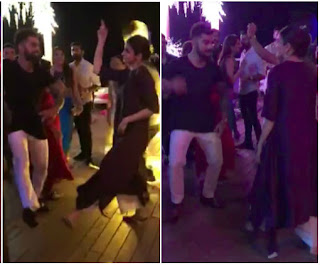 virat kohli,anushka sharma,anushka sharma hot,virat and anushka dance,hot dance of virat and anushka