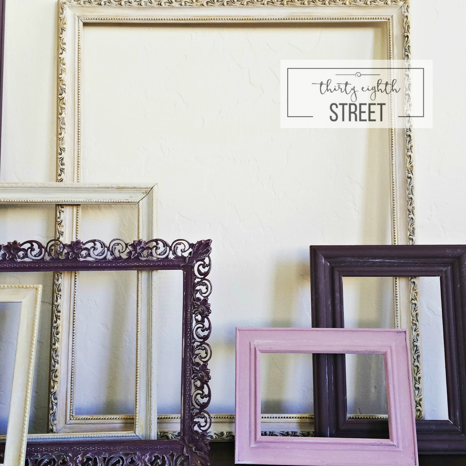 How To Create A Gallery Wall Using Old Picture Frames - Thirty ...