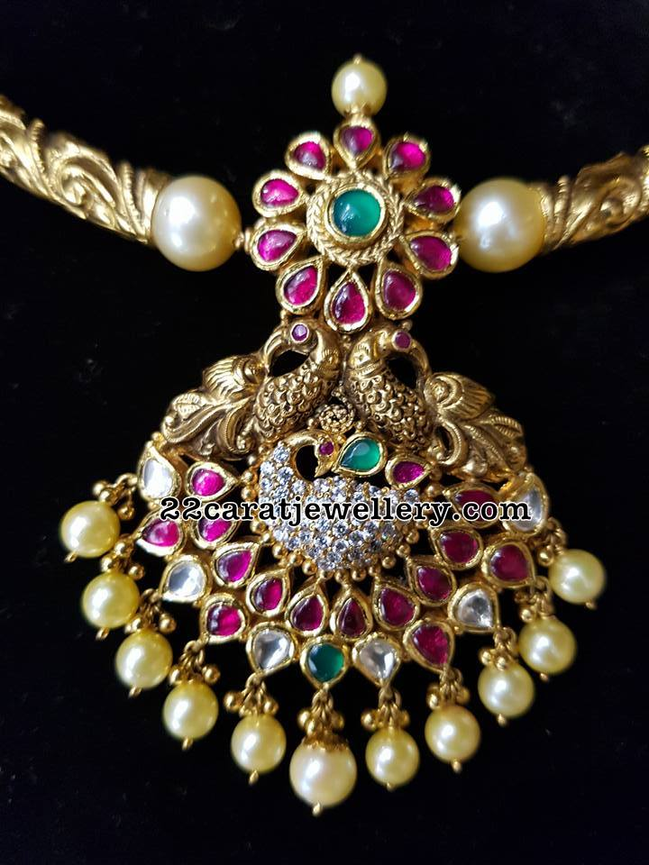 Antique Peacock Ruby Pendant - Jewellery Designs