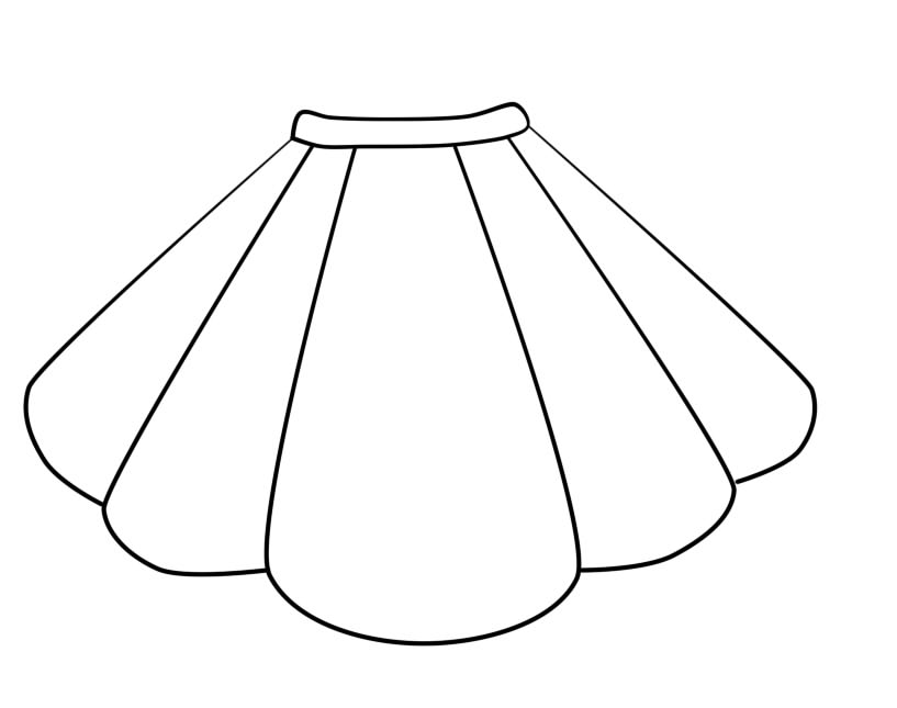 Skirt Page Coloring Pages