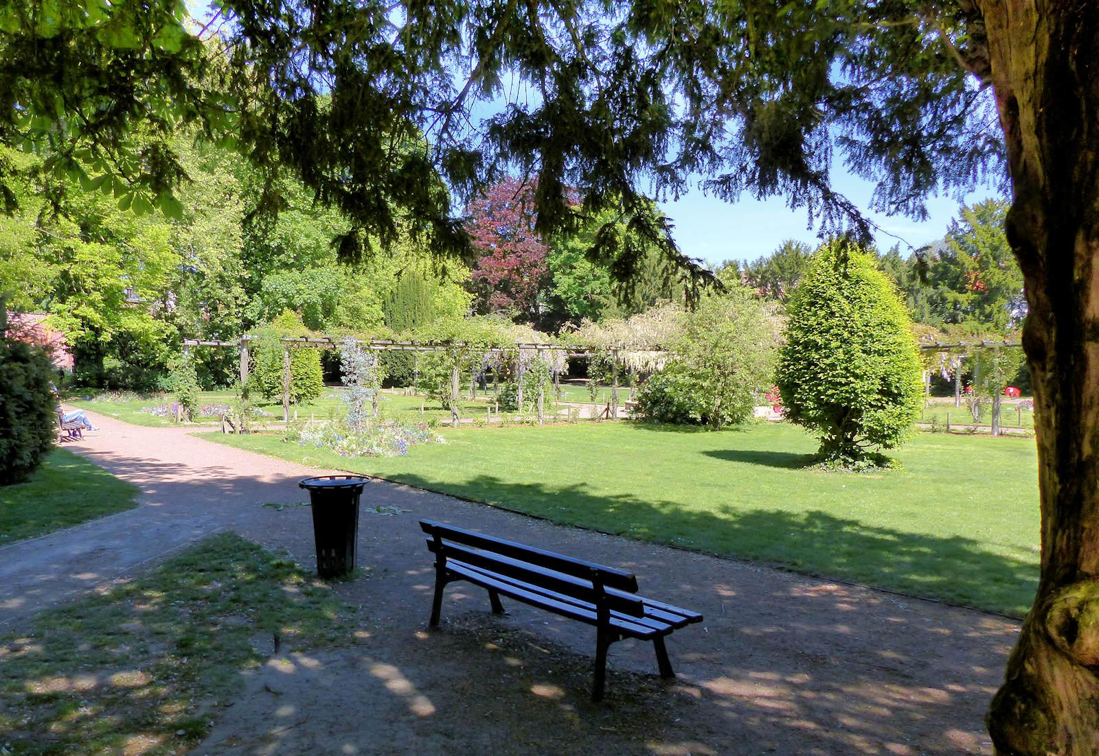 Tourcoing - Jardin botanique, banc