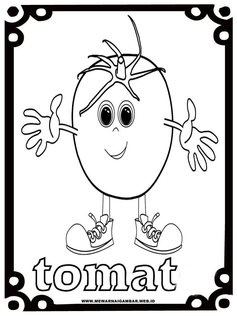 Mewarnai Gambar Tomat  Mewarnai Gambar