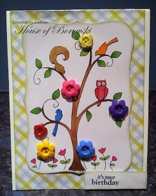 Diecut Divas, A Day for Daisies happy tree