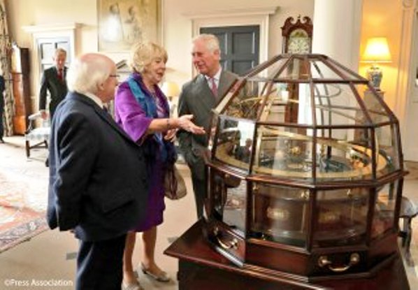 Prince Charles and the Duchess of Cornwall host Irish President in Scotland