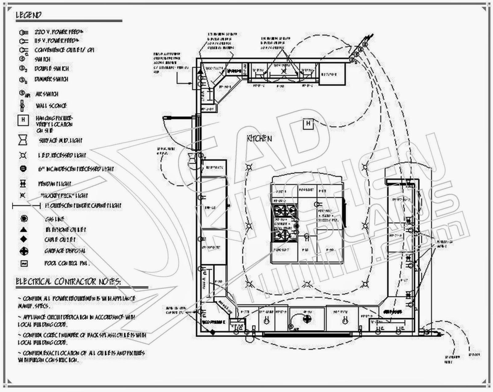 Style Modern Design Kitchen Layouts Plans