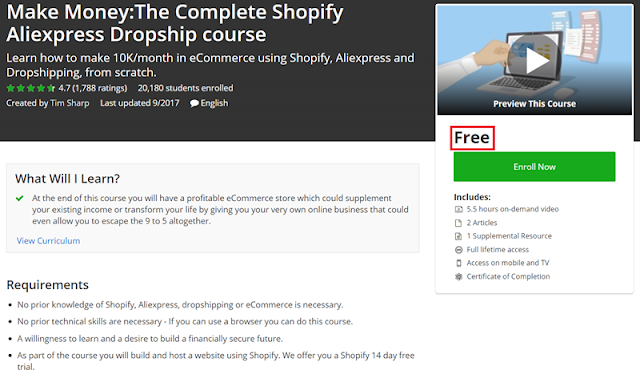 Udemy Dropshipping Course
