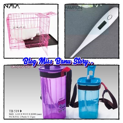Lazada Malaysia, Membeli - Belah Di Lazada, Shopping Di Lazada, Voucher, Barang, Cat Cage, Botol Air, Digital Thermometer,
