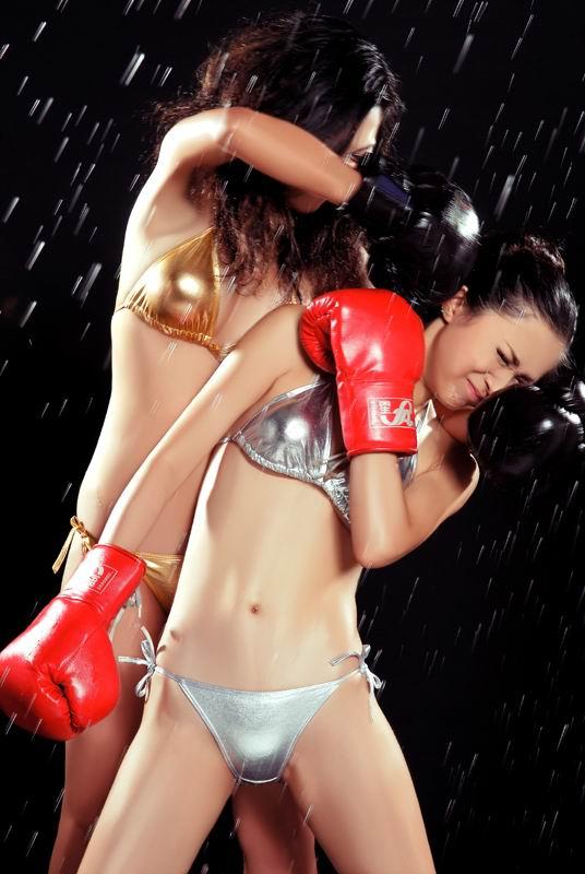 Girls bikini boxing
