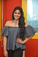 Mega Akash in a sleeveless Off Shoulder Cute Dress Stunnign beauty at Radio Mirchi Promoting Movie LIE ~ Celebrities Galleries 054.JPG