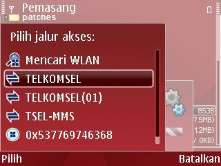 Pilih jalur akses download